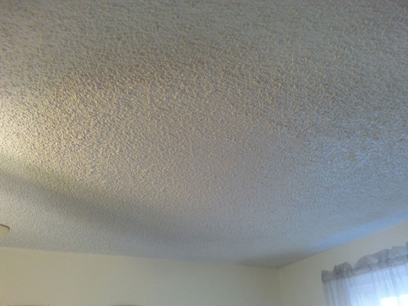 Popcorn Ceiling Repair After
