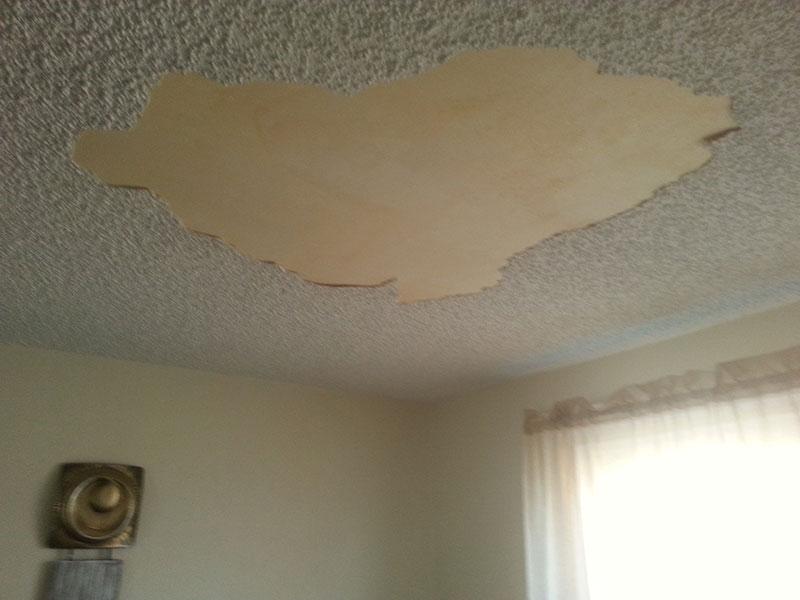 Popcorn Ceiling Repair Before