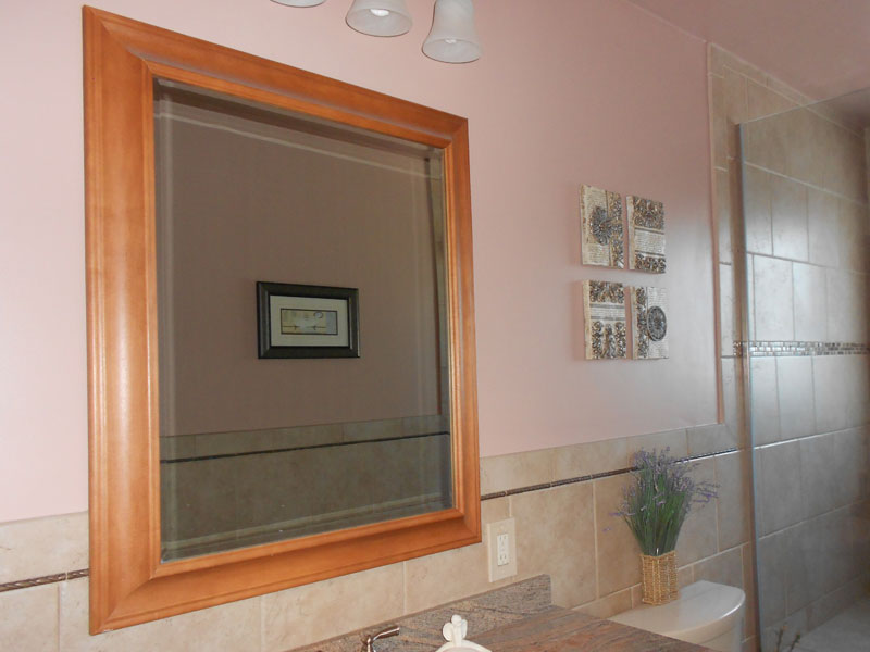 Interior painting bathroom walls