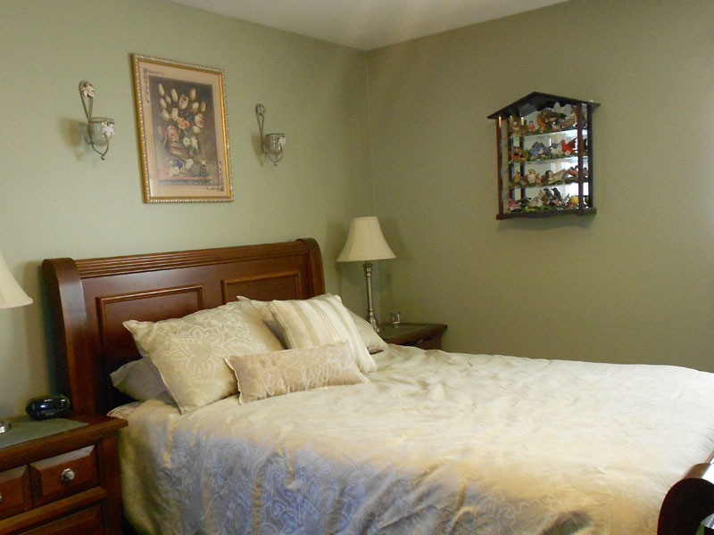 Interior painting green bedroom walls